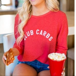 Wildfox• Club Carbs Sweater Red